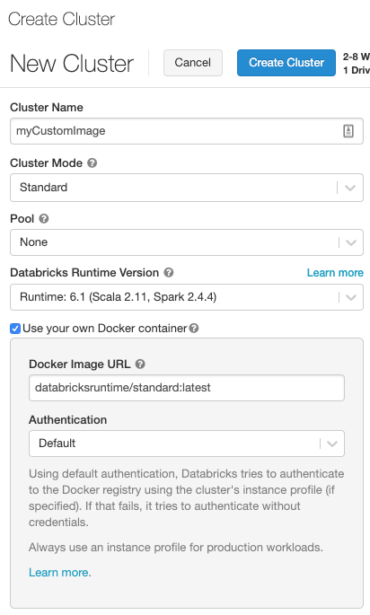 Customize Containers with Databricks Container Services