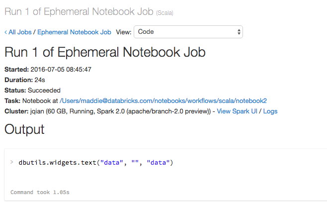 NotebookWorkflowRunResult