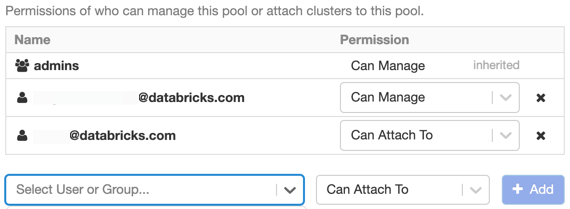 Assign pool permissions
