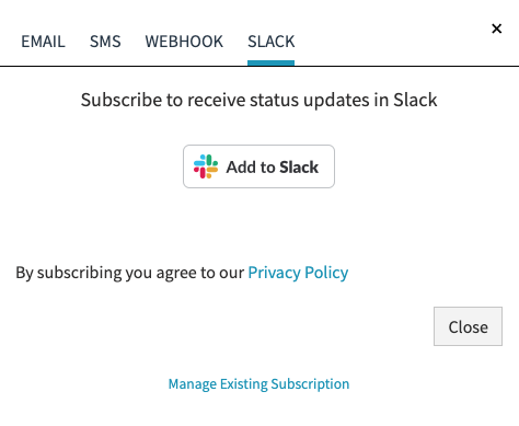Slack Subscription